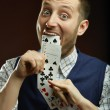 Royalty-Free Stock Photo: Playing cards trick