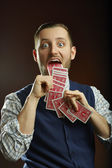 Playing cards trick — Stock Photo