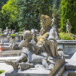 Peles castle garden — Stock Photo