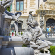 Peles castle statues — Stock Photo