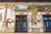 Peles schloss fresken — Stockfoto