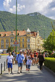 Old touristic historical center, Brasov, Romania — Foto de Stock