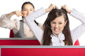 Enraged call center agent — Stock Photo