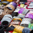 Stock Photo: Colorful leather bracelets