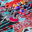 Stock Photo: Colorful neacklaces, bracelets, accessories and souvenirs
