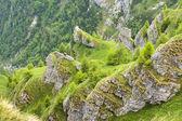Steep rocky mountain slope — Stock Photo
