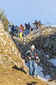 People visiting Postavaru peak — Stock Photo