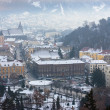 Brasov city covered by first snow — Stock Photo