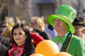 People at St. Patrick's Day Parade — Stock Photo