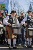 Irish drum band on St. Patrick's Day — Stockfoto