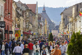 Rush hour dowtown Brasov, Romania — Stock Photo