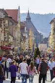 Rush hour dowtown Brasov, Romania — Stock Photo