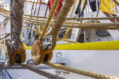 Marine ropes and rigging — Stock Photo