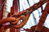 Rust, chains and rigs — Foto de Stock