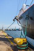 Veleiro ancorado em quilha — Foto Stock