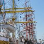Anchored tall ship — Stock Photo #47500487