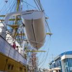 Anchored tall ship — Stock Photo #47500491