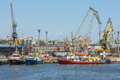 Constanta port shipyard — Stock Photo