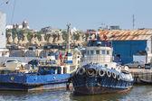 Moored tugboat — Stock Photo