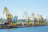 Dockside cranes — Stock Photo