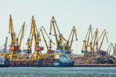 Constanta shipyard — Stock Photo