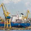 Freighter ship and cranes — Stock Photo #47639453