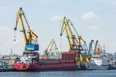 Shipping cargo boats  — Stock Photo