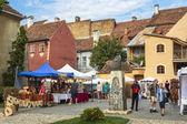 Craft market, Sighisoara, Romania — Stock Photo