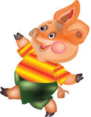 Vector image of Pig — Stock Photo