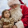 Santa Claus and little girl — Stock Photo #37121339