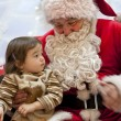 Santa Claus and little girl — Stock Photo #37122971