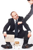 Businessman ask for help — Stock Photo