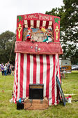 Traditional Punch and Judy Booth — Stock Photo