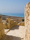 Curium ruins and the view of the sea — Stock Photo