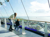 Mother and child at the top of the spinnaker tower — Stock Photo