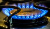 Stove Natural Gas Burners — Stock Photo