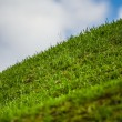 Hill Lawn Before Sky Green — Stock Photo