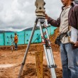 Stock Photo: Topographic Terrain Measurement by Professional Topographer