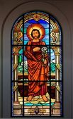 Church Colorful Stained Glass — Stock Photo