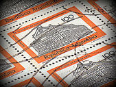 Argentinian stamps (print style) — Stock Photo