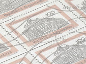 Argentinian stamps (silk paper) — Stock Photo