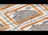 Argentinian stamps (cinemascope) — Stock Photo