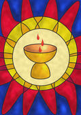 Symbol jezusa chrystusa — Zdjęcie stockowe