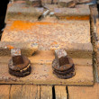 Railway sleeper — Stock Photo