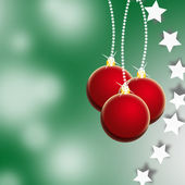 Green christmas illustration — Stock Photo