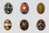Isolated easter eggs pack. Pisanka - russian folk art — Stock Photo