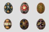 Isolated easter eggs pack. Pisanka - russian folk art — Stock Photo