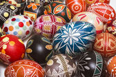 Many beautiful Easter eggs — Stock Photo