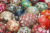 Traditional drawing on Easter eggs — Stock Photo