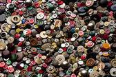 Fondo multicolor. coser botones. — Foto de Stock